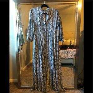 NWT Zara Snakeskin print Maxi Dress